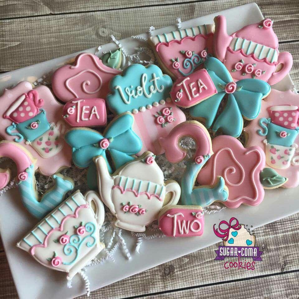 Sugar Coma Cookies  Birthday  Tea For Two! Tea Set