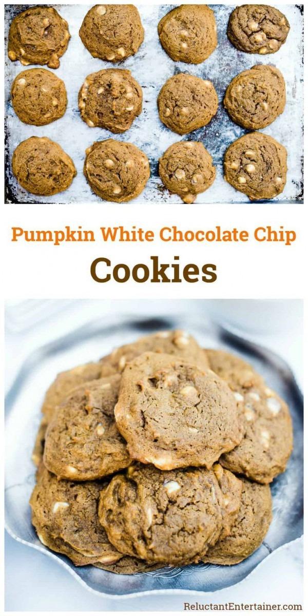 Make Ahead Pumpkin White Chocolate Chip Cookies To Freeze, Or