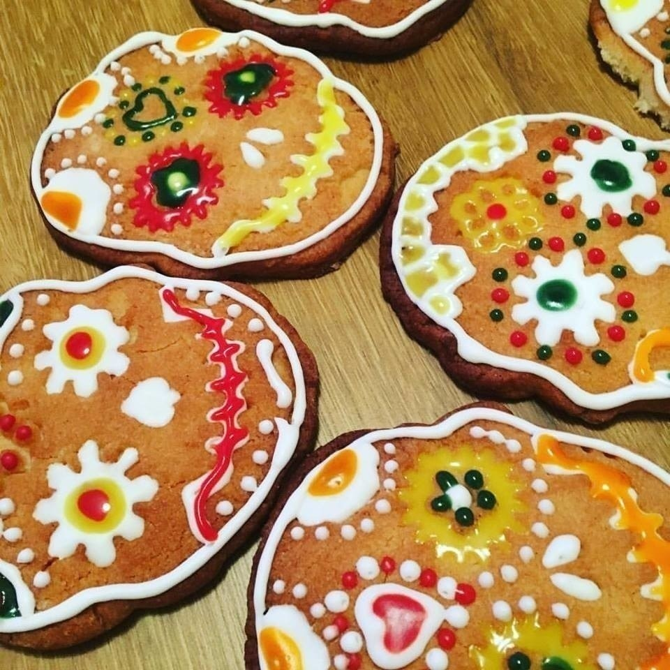 Mexican Day Of The Dead Sugar Cookies · How To Bake A Butter