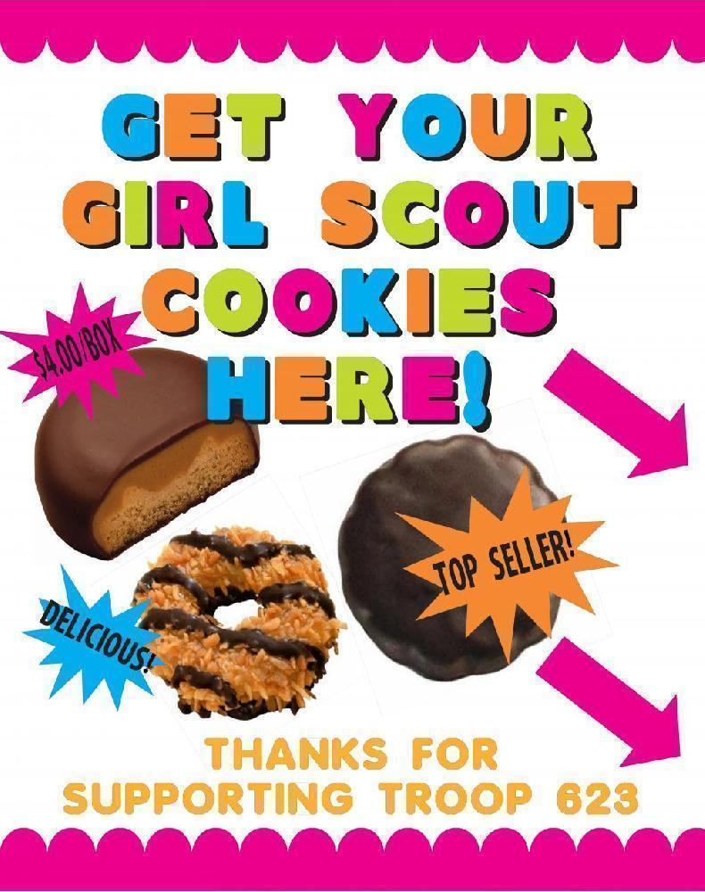 Make A Get Your Girl Scout Cookie Poster