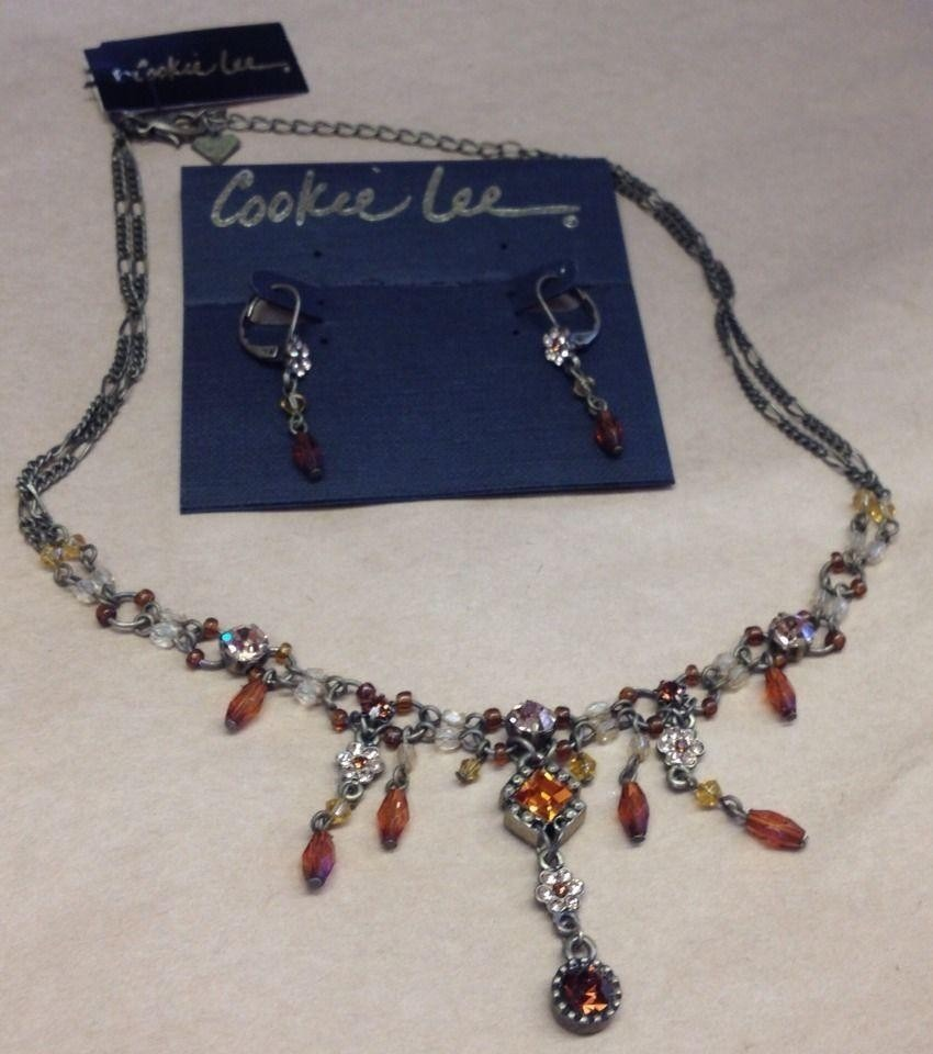 Vintage Cookie Lee Necklace And Earrings Set