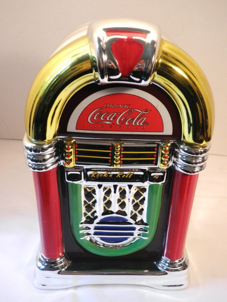 Coca Cola Jukebox Cookie Jar Canister