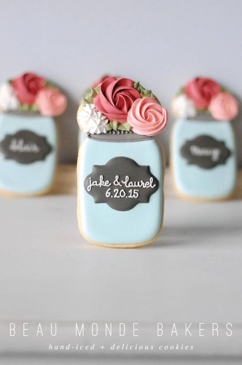 Wedding Mason Jar Cookies …