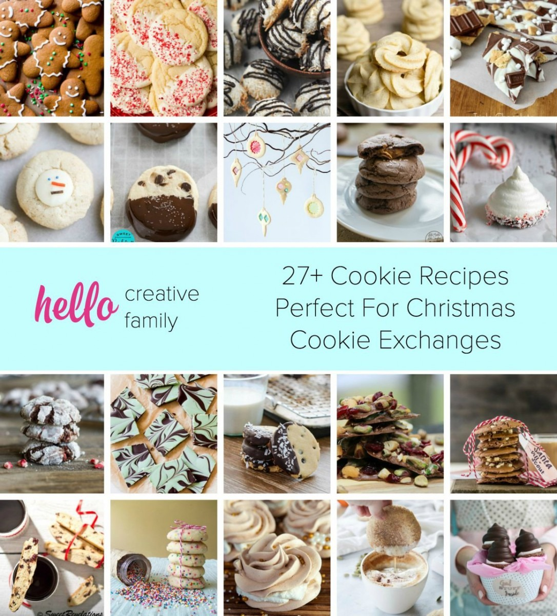 27+ Cookie Recipes Perfect For Christmas Cookie Exchange Parties