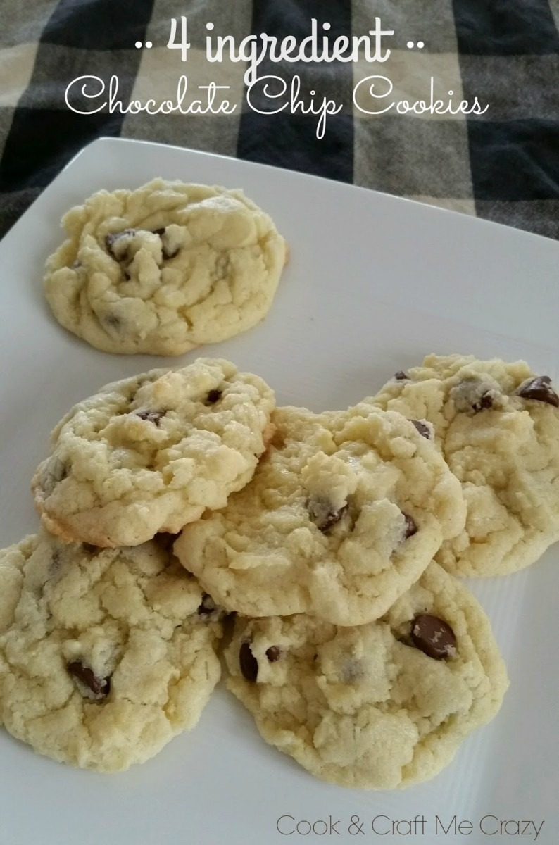 Cook And Craft Me Crazy  4 Ingredient Chocolate Chip Cookies