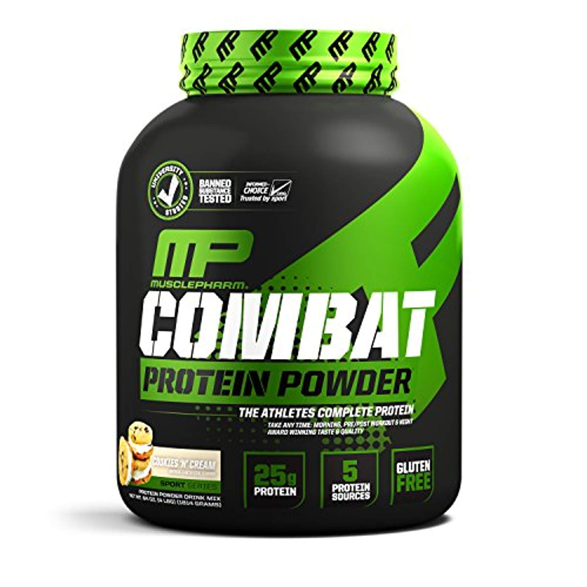 Muscle Pharm Combat Protein Powder 5lbs  Cookies And Cream Gluten