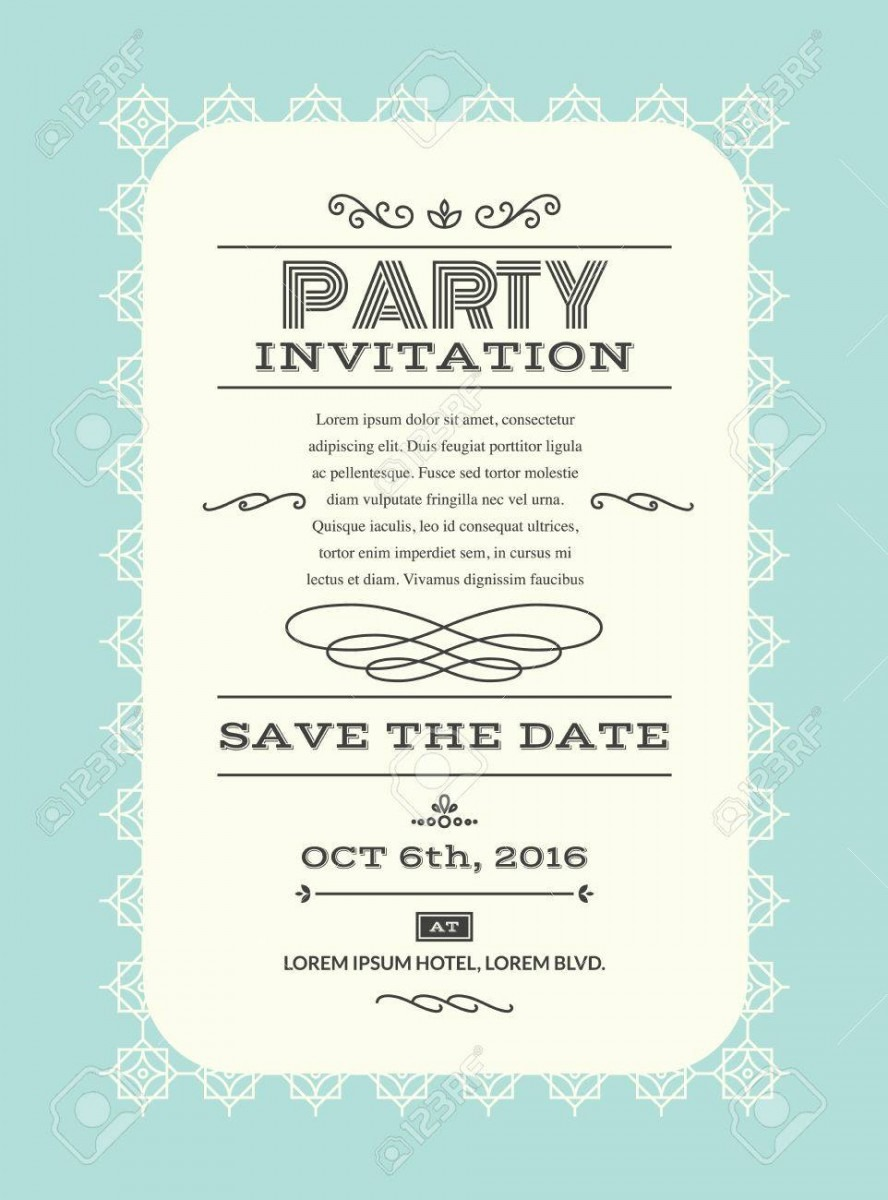 Wedding Party Invitation Card Layout Template Illustration In