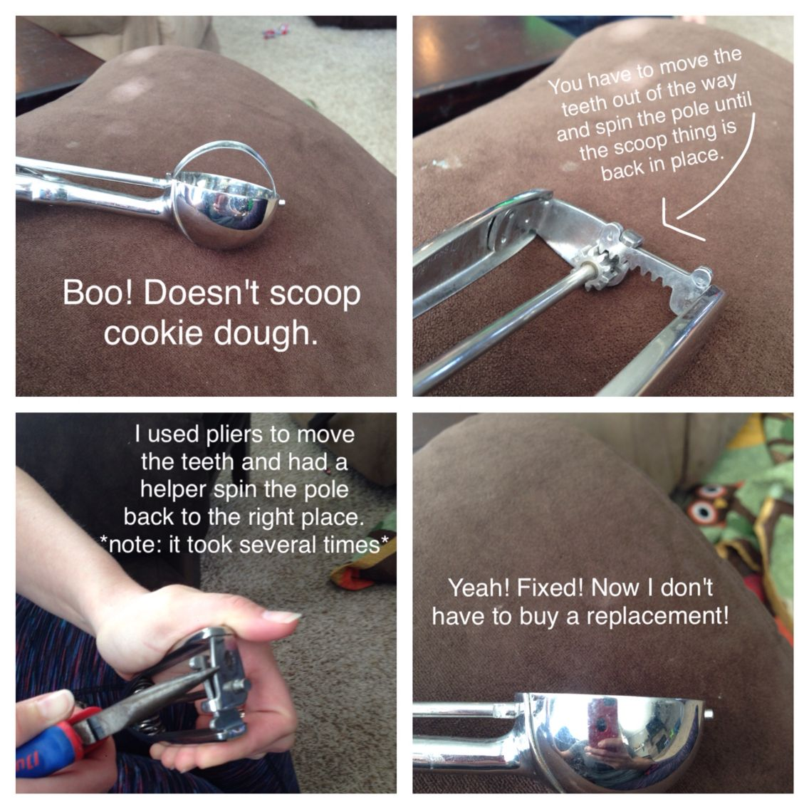 Fix Your Pampered Chef Cookie Scoop!