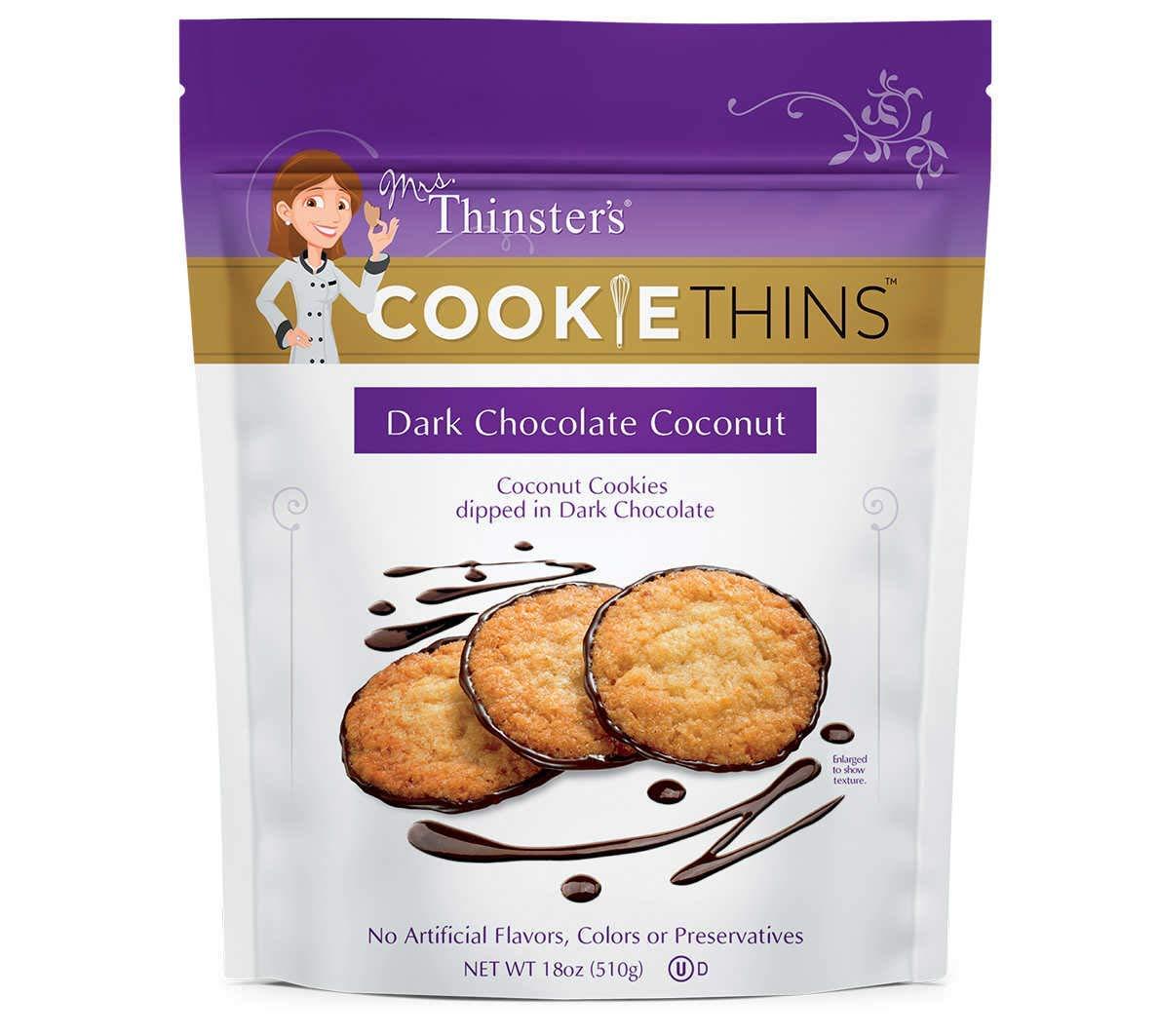 Amazon Com  Mrs  Thinsters Dark Chocolate Coconut Cookie Thins 18 Oz