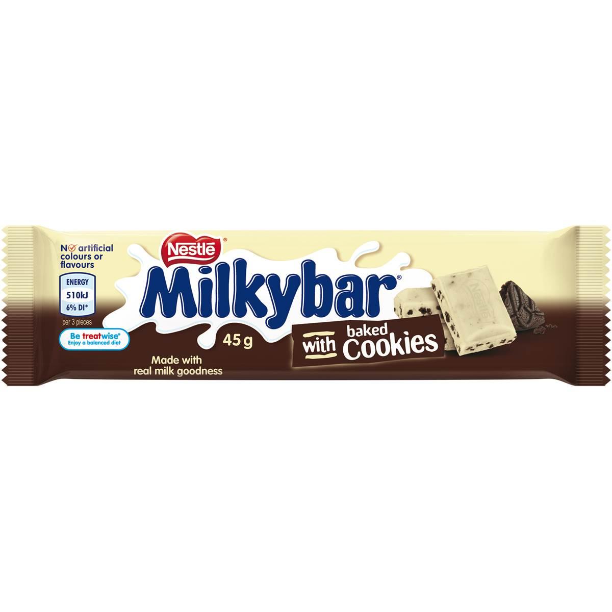 Nestle Milkyba Cookies & Cream 45g Bar 45g