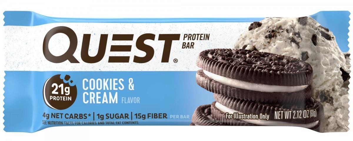 Amazon Com  Quest Nutrition Cookies & Cream Protein Bar, High