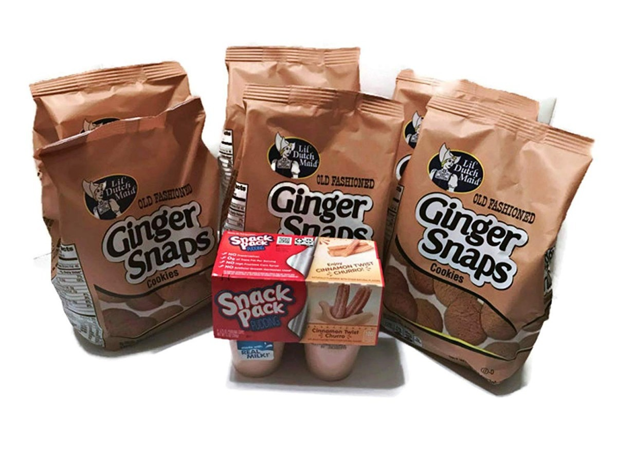 Amazon Com  Old Fashioned Ginger Snaps Cookies (6 10oz Bags)