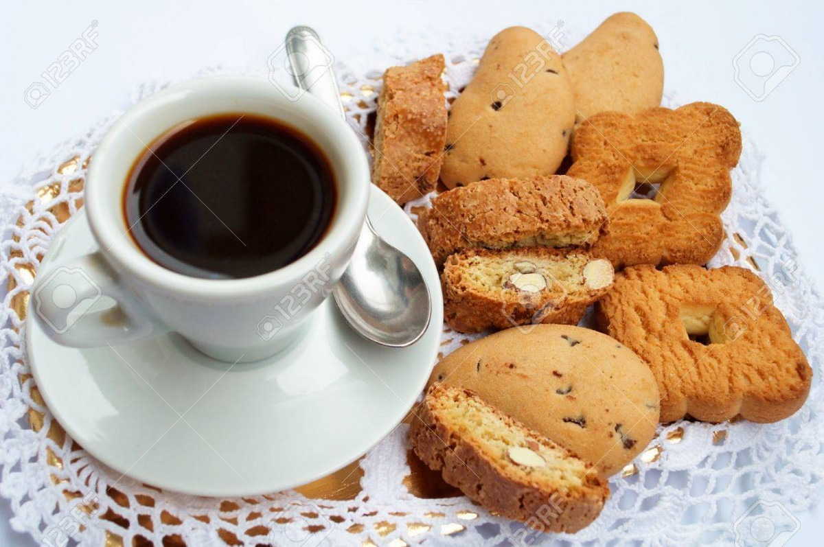 Coffee And Cookies Stock Photo, Picture And Royalty Free Image