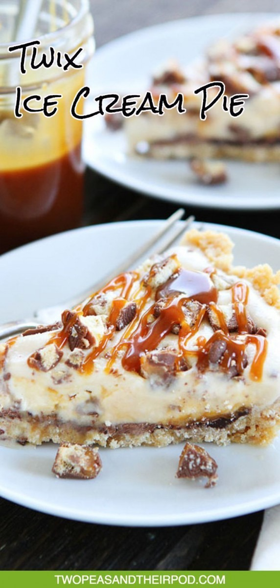 Twix Ice Cream Pie