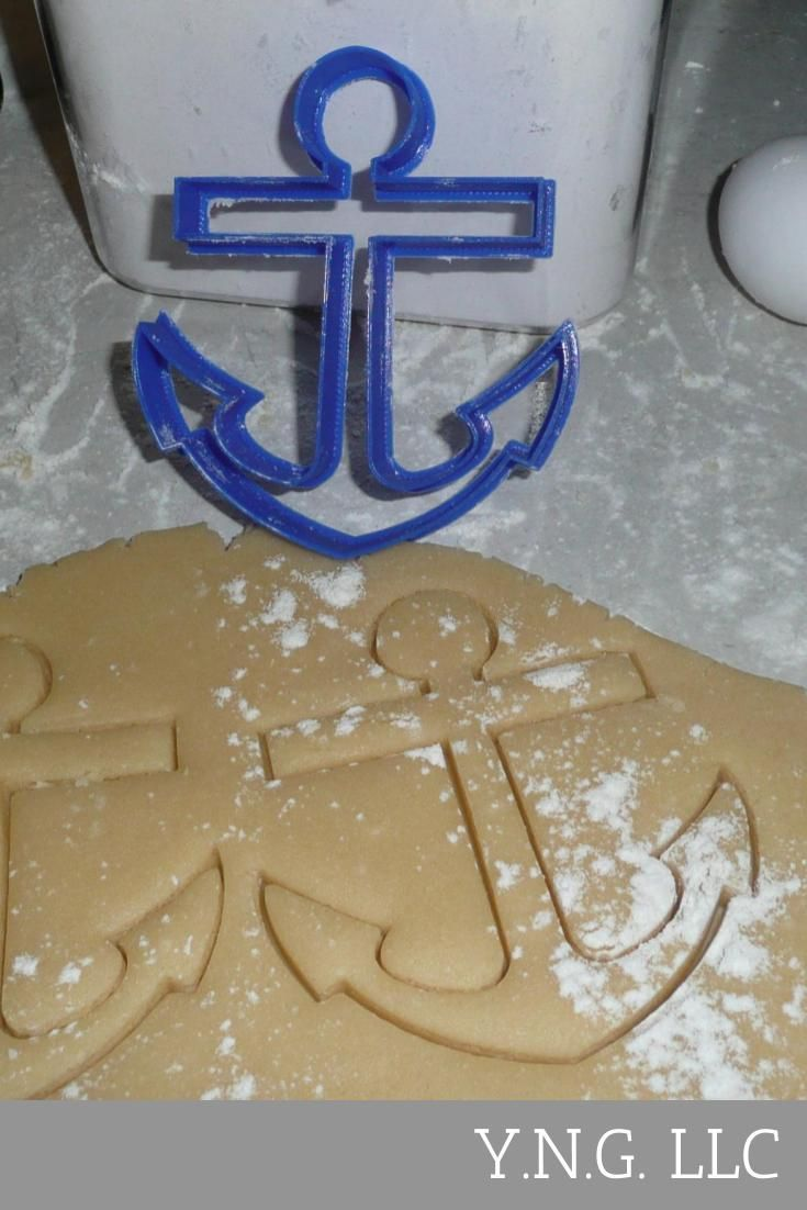 Anchor Nautical Cookie Cutter Baking Tool Special Occasion Made In