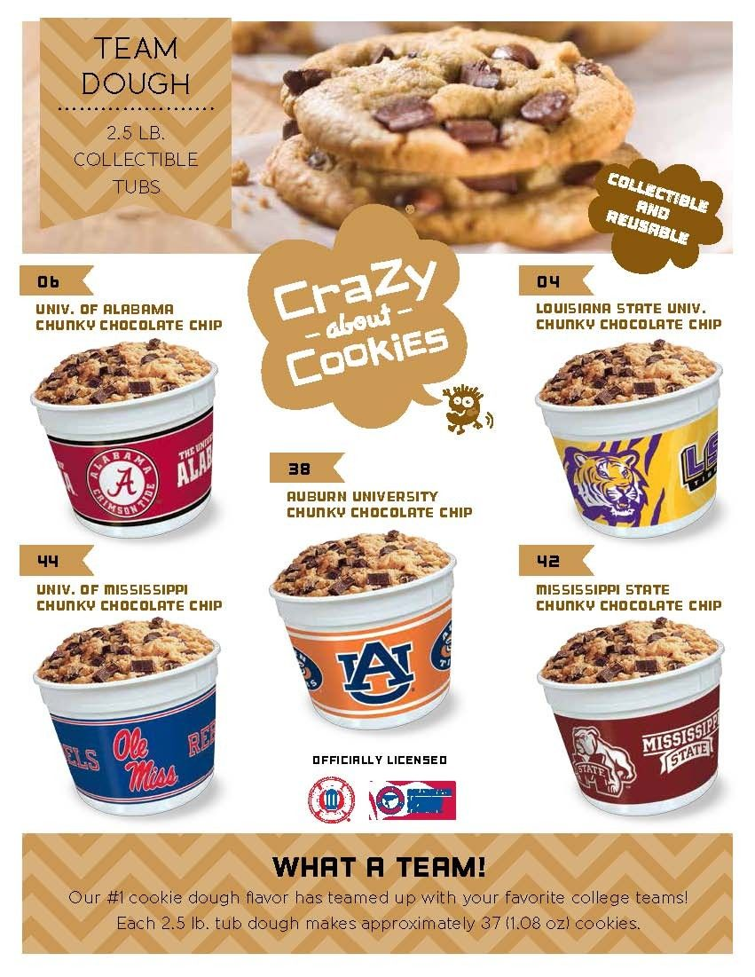Collegiate Cookie Dough Tubs For Mississippi From Justfundraising