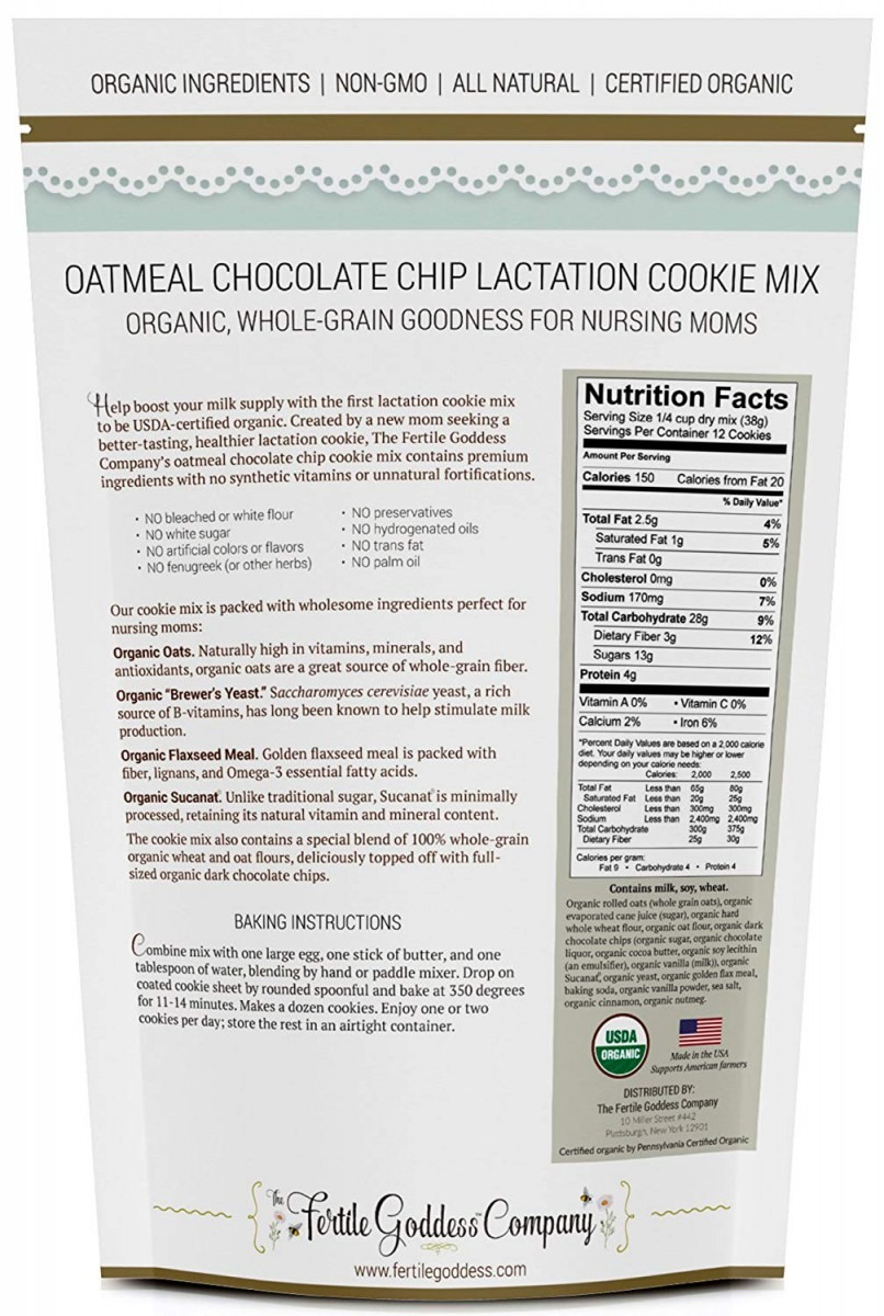 Amazon Com   Lactation Cookie Mix (usda Organic Certified) With