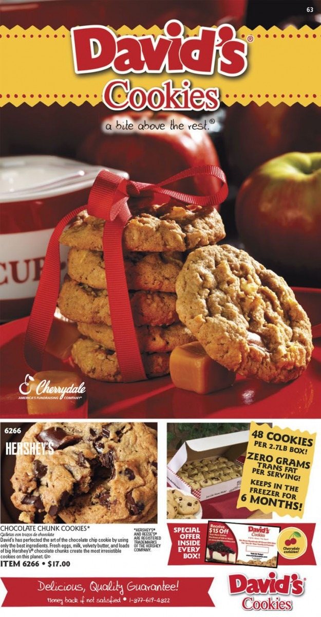 Cherrydale Fundraising And David's Cookies Are A Delicious Way To