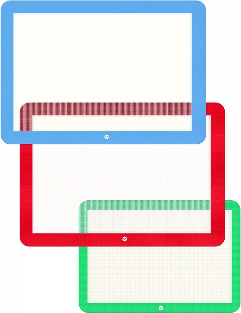 Amazon Com  Vremi 3 Piece Silicone Baking Mat Set
