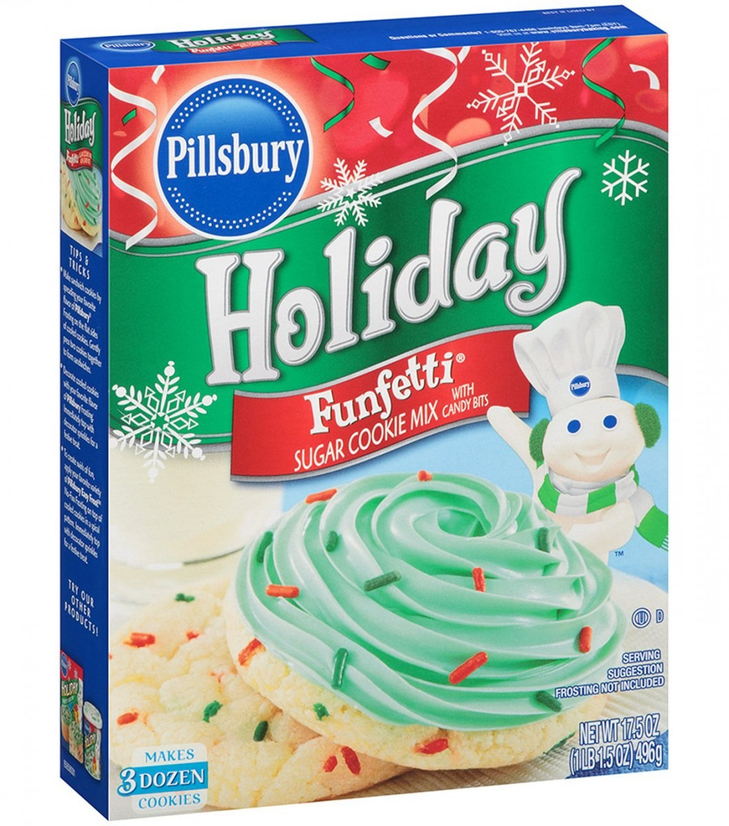 Amazon Com   Pillsbury Holiday Funfetti Sugar Cookie Mix 17 5 Oz