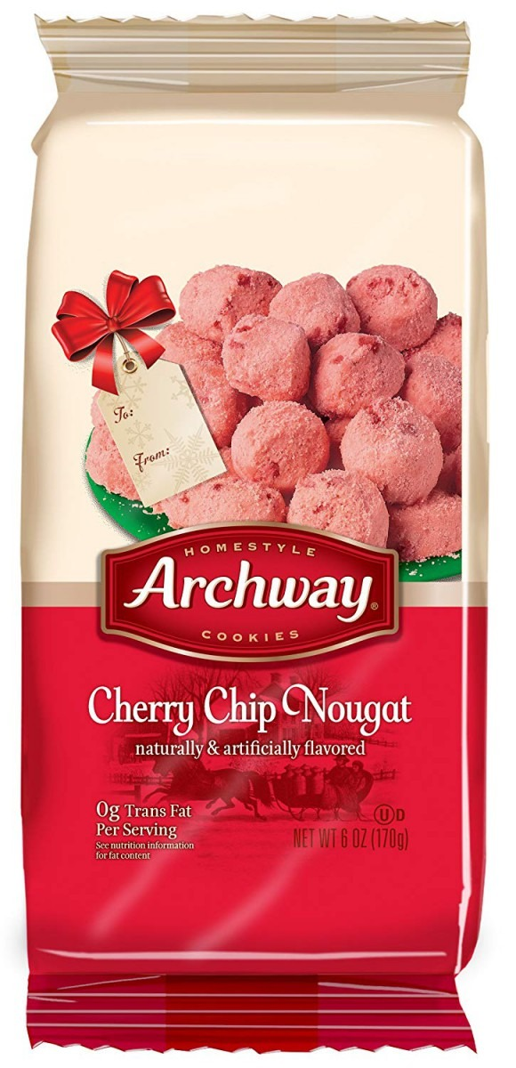 Amazon Com  Archway Holiday Cherry Chip Nougat Cookie, 6 Ounce
