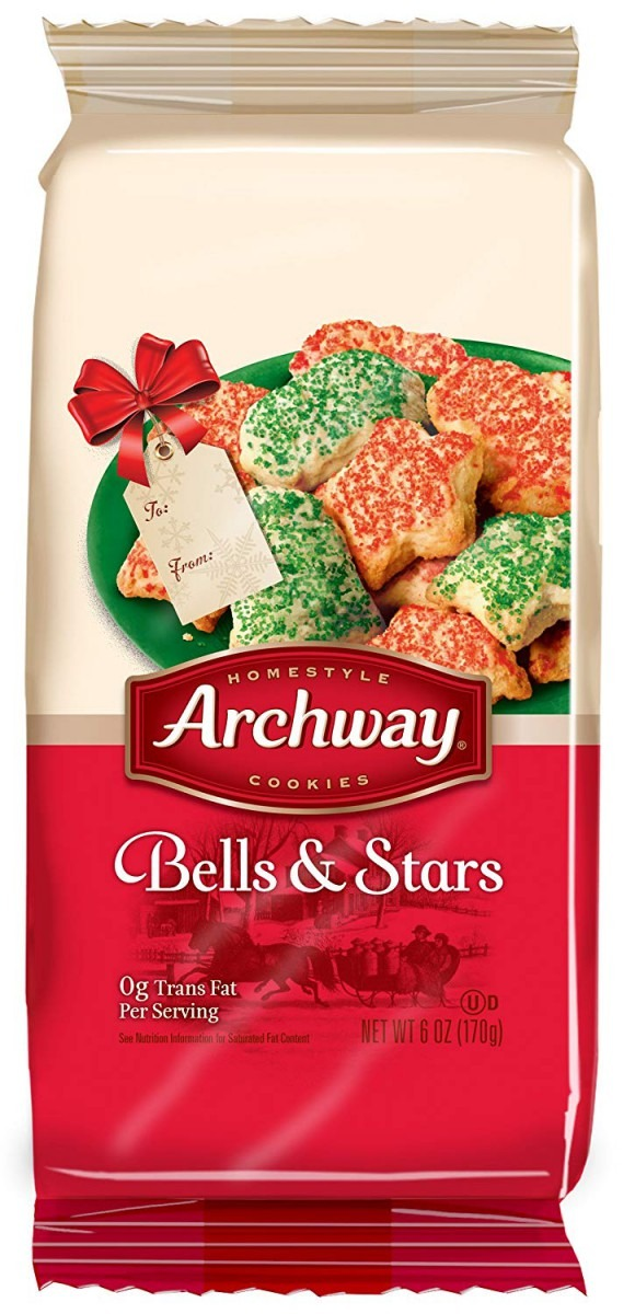 Amazon Com  Archway Cookies, Bells And Stars Cookies, 6 Ounce