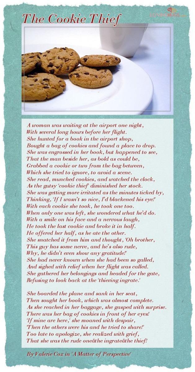 Cookie Thief Poem