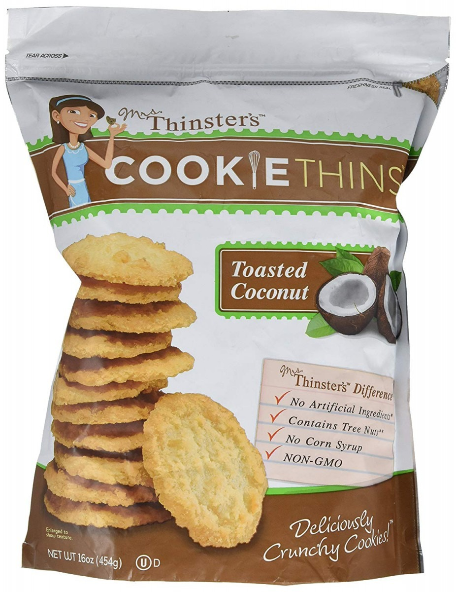 Amazon Com  Mrs  Thinster's Toasted Coconut Cookie Thins 16 Oz