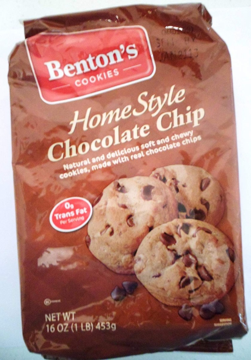 Benton's Cookies Home Style Chocolate Chip Net Wt 16 Oz (pack Of 2
