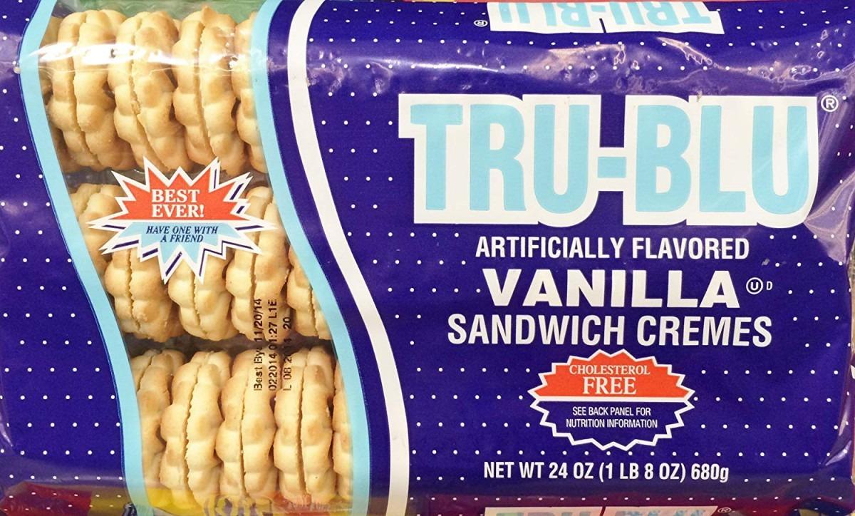 Amazon Com  24oz Tru Blu Sandwich Cremes Cookies Vanilla, Pack Of 2