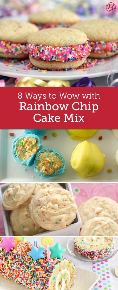 8 Ways To Wow With Rainbow Chip Cake Mix