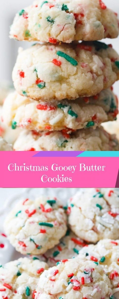 Christmas Gooey Butter Cookies  Christmas  Cookies