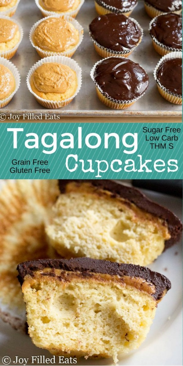 These Tagalong Cupcakes Have Fluffy Grain Free Yellow Cake Covered