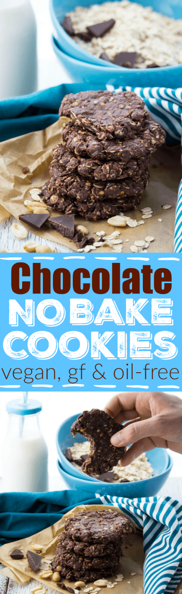 These Chocolate Peanut Butter No Bake Cookies Without Milk Are