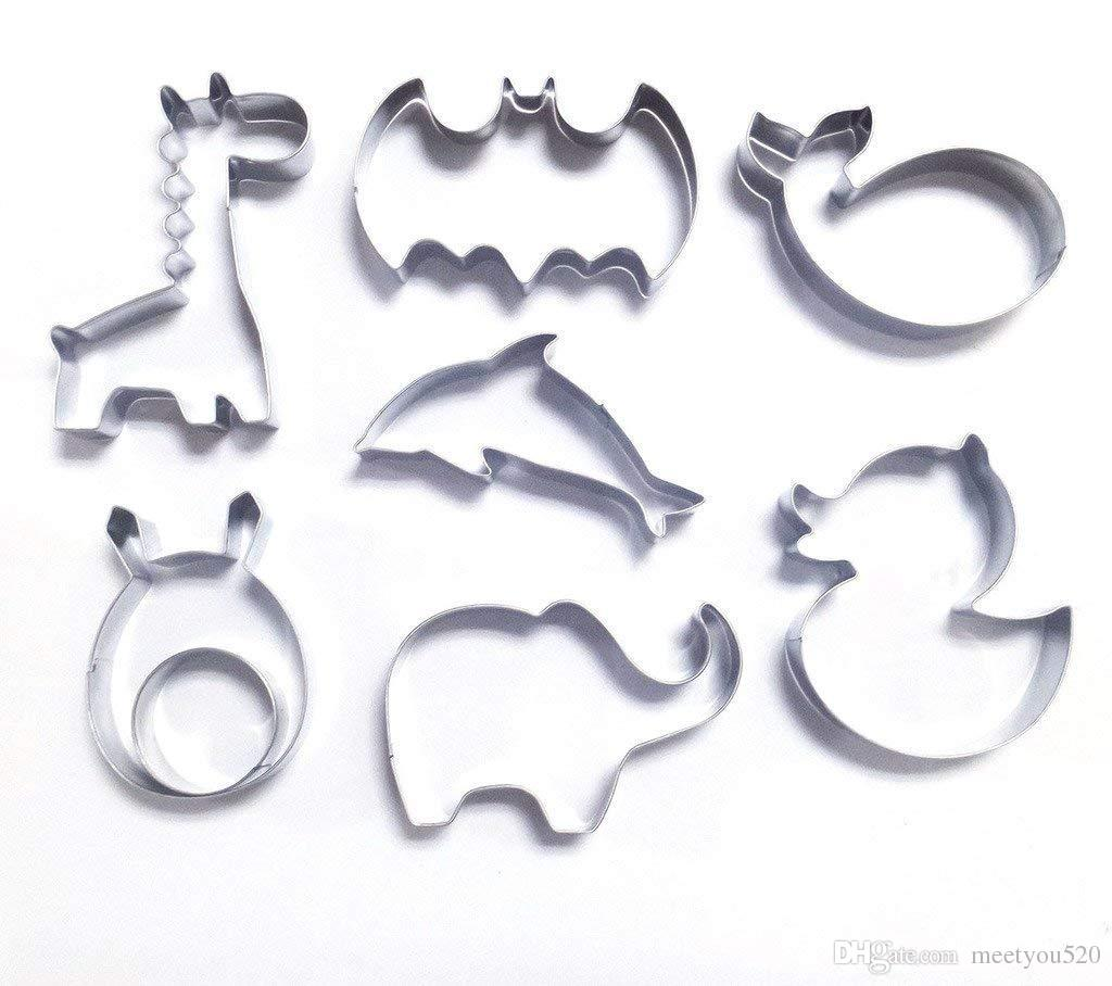 2019 Animal Shapes Stainless Steel Cookie Cutter Fondant Cutter