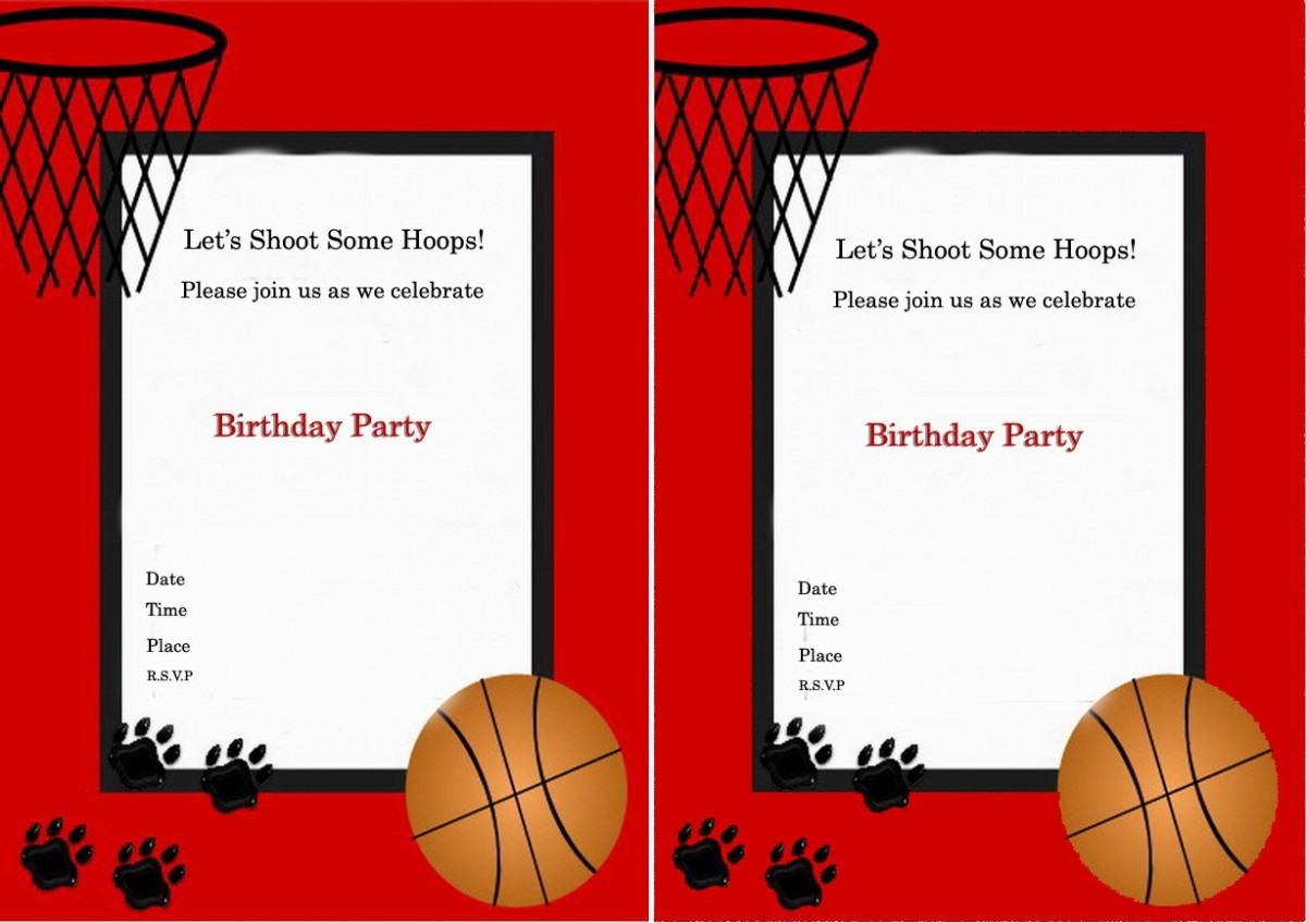Basketball Birthday Party Invitations — Birthday Invitation Examples