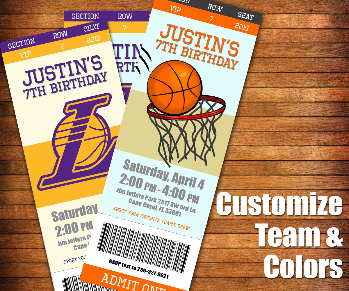 Basketball Party Invitations Basketball Party Invitations For