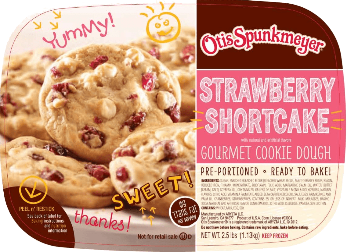 Otis Spiunkmeyer Strawberry Shortcake Cookie Dough