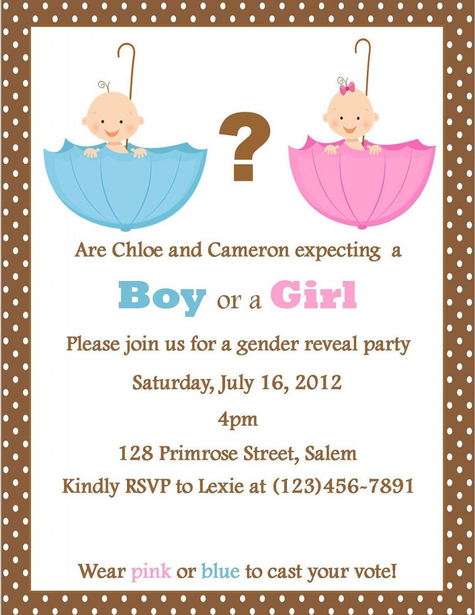 Gender Reveal Party Invite  I Like That You Wear Pink Or Blue