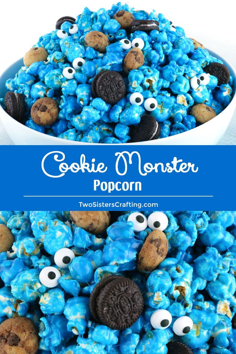Me Want Cookie Monster Popcorn! Sweet And Salty Popcorn Mixed With