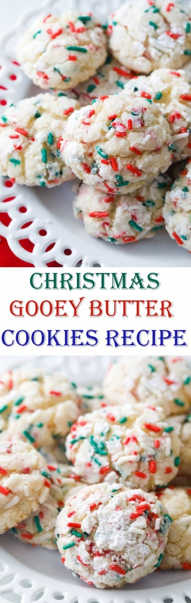 Christmas Gooey Butter Cookies Recipe