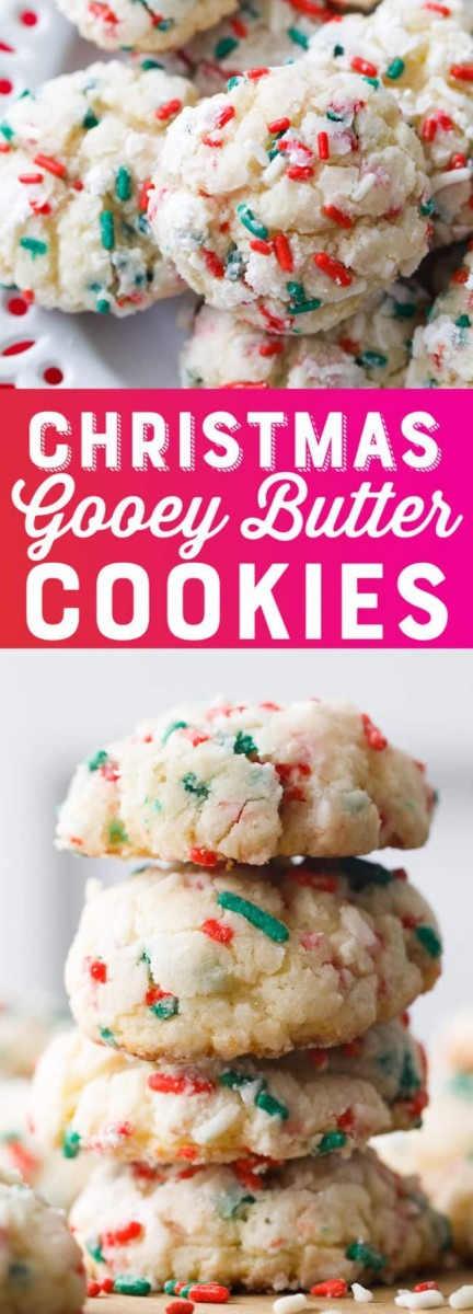 Christmas Gooey Butter Cookies Recipe
