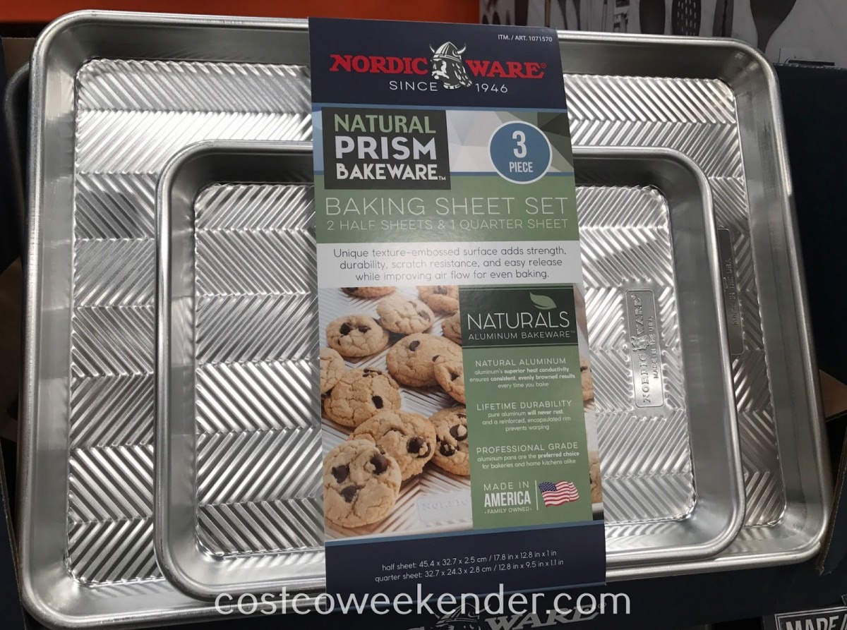 Nordic Ware Natural Prism Baking Sheet Set (3 Piece)