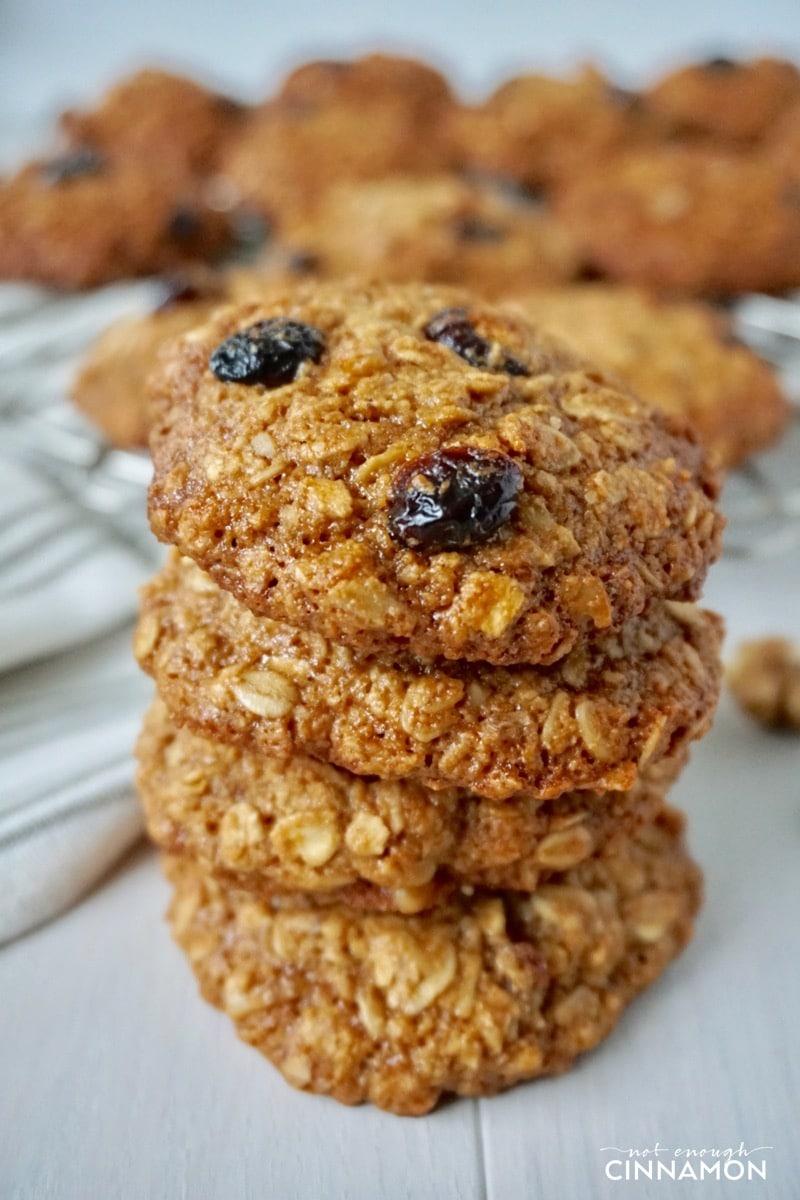 Cranberry Walnut Oatmeal Cookies {gluten Free + Refined Sugar Free