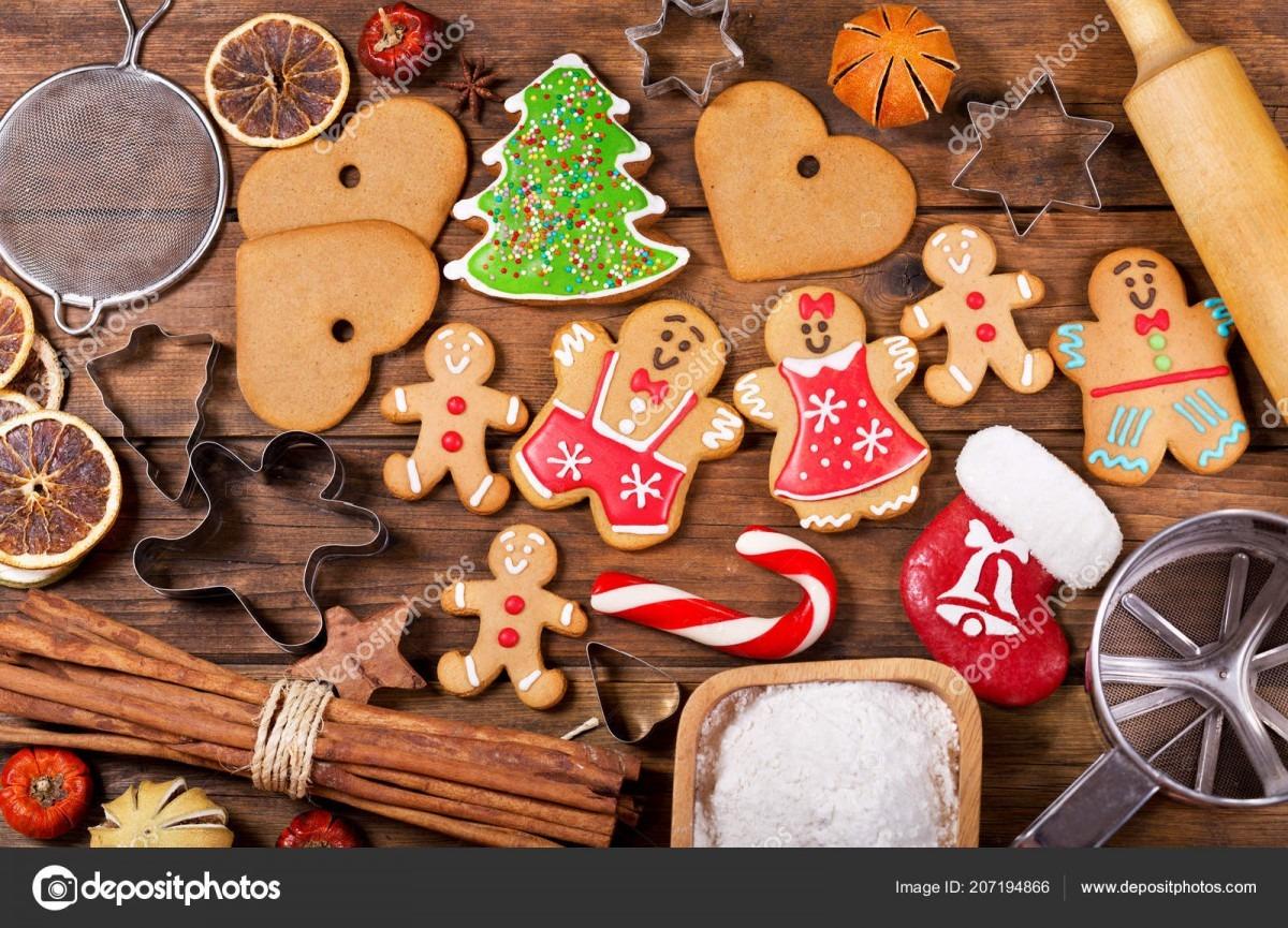 Christmas Food Homemade Gingerbread Cookies Ingredients Christmas