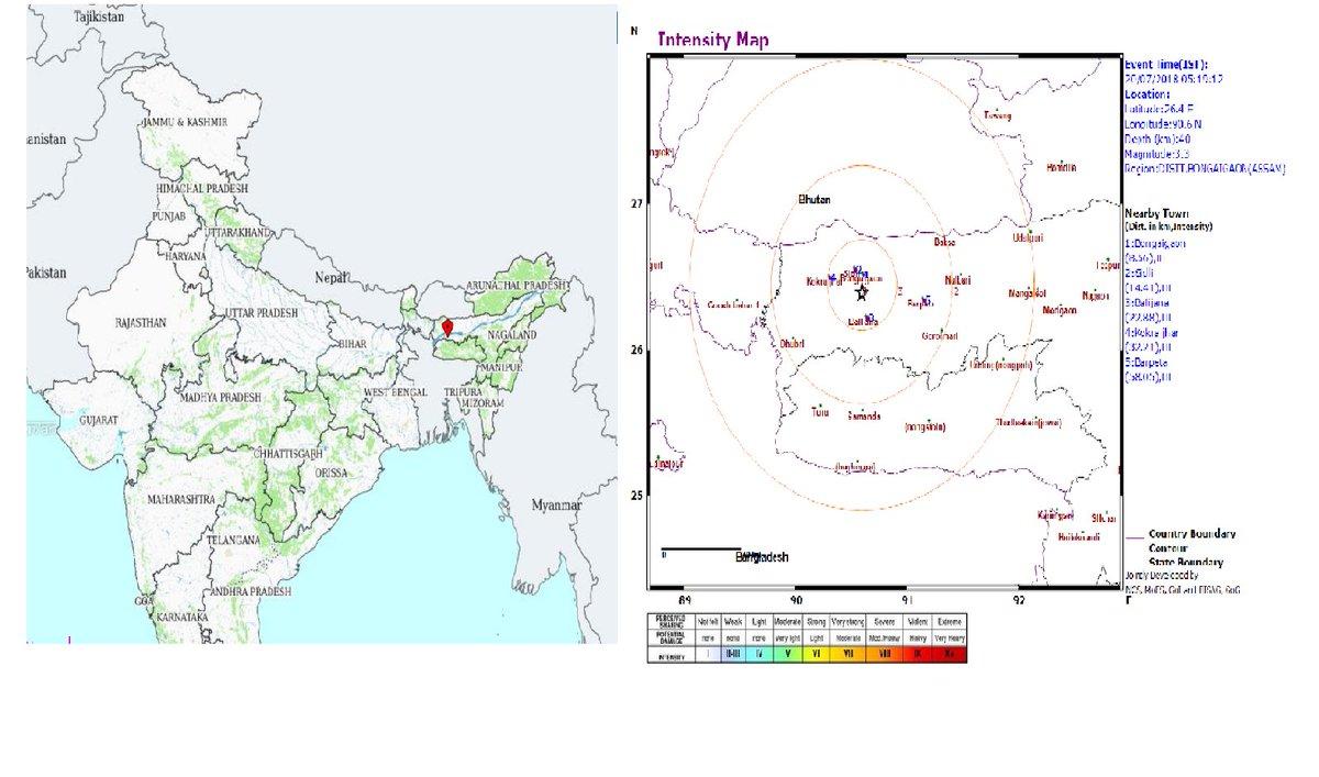 India Met  Dept  On Twitter   Earthquake Of Magnitude 3 3