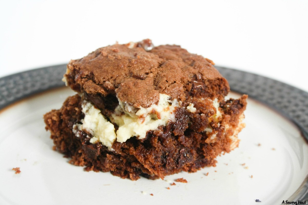 Double Chocolate Cream Cheese Cookie Bars