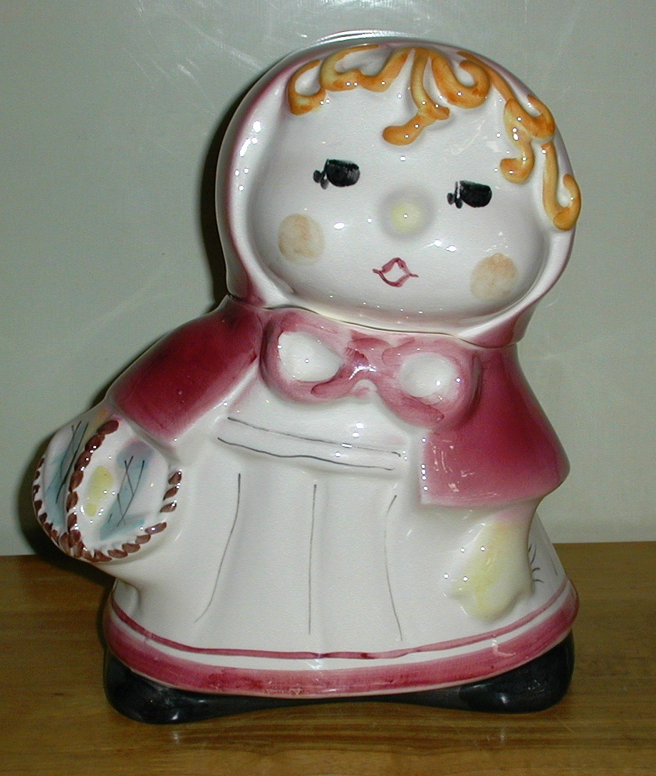 Rare Jar~~ Red Riding Hood By Weiss Collector Cookie Jar