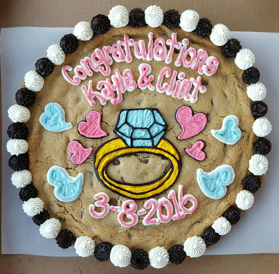 Engagement Cookie Cake