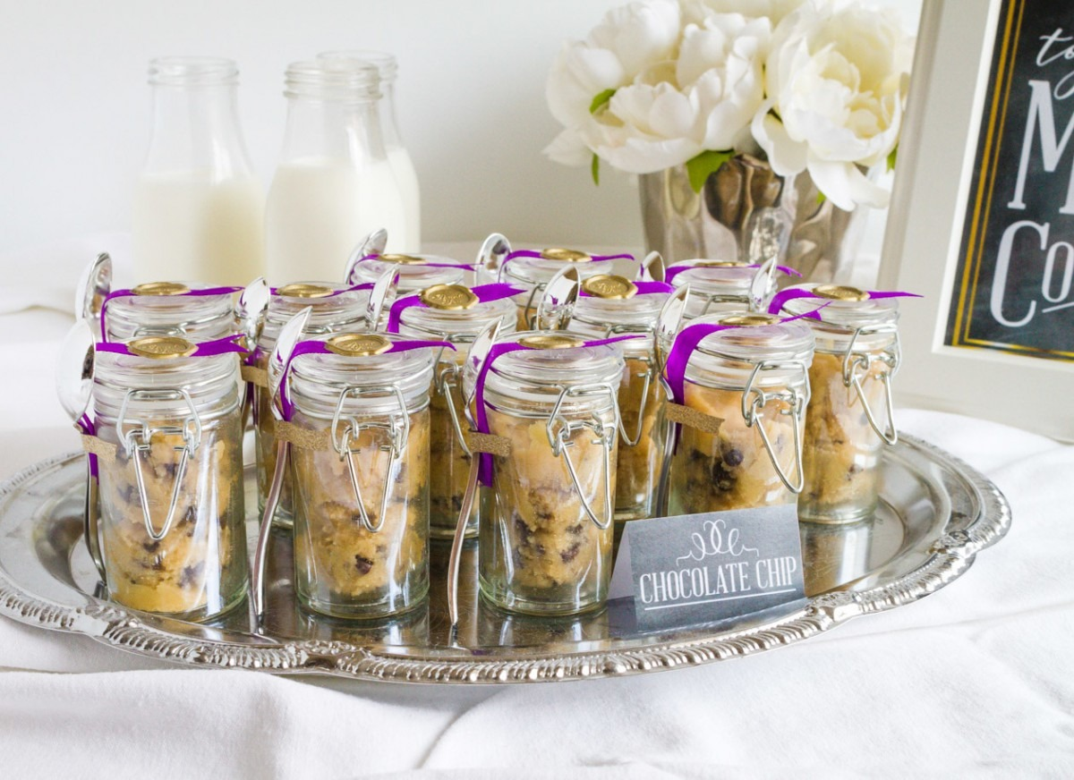 Edible Chocolate Chip Cookie Dough Wedding Favors